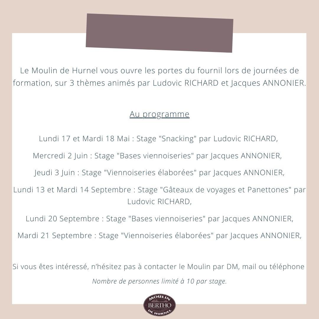 Les stages 2021 du Moulin de Hurnel !